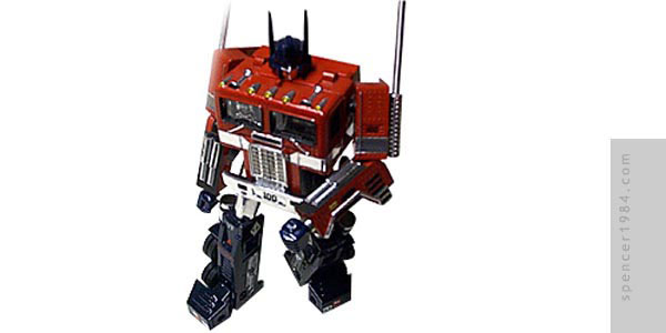 Transformers custom G1 Optimus Prime figure