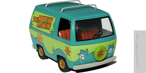 Classic Mystery Machine from the cartoon Scooby Doo
