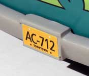 Scooby Doo Mystery Machine AC-712 license plate