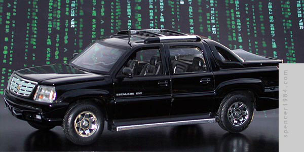 The Twins' Cadillac Escalade from the movie The Matrix: Reloaded