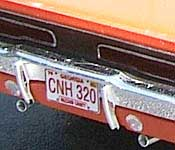 General Lee rear with CNH 320 Georgia license plate