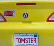 Misfile Acura RSX-S TOMSTER Massachusetts license plate