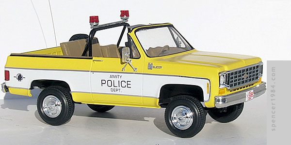 Roy Scheider's Amity Police Chevrolet Blazer from the movie Jaws