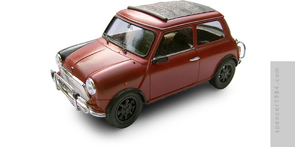 Matt Damon's Rover Mini from the movie The Bourne Identity