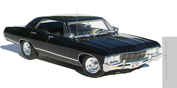 The Winchester's 1967 Impala from the TV show Supernatural