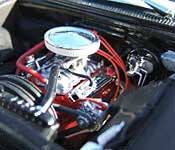 Metallicar 327 small block V8 engine (left)