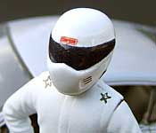 The Stig Simpson helmet close-up