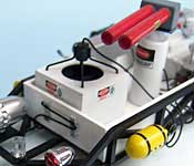 Ghostbusters Ectomobile air tank, cannon, and fan box detail