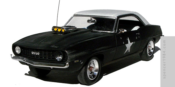Customized 1969 Camaro SS used in the music video for Stylo