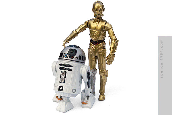 C-3PO and R2-D2 from the movie Star Wars
