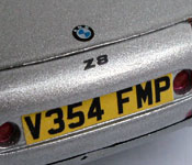 James Bond TWINE BMW Z8 rear detail