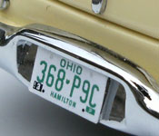 Rain Man Buick rear license plate
