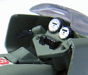 GI Joe Rapid Assault Motorcycle controls