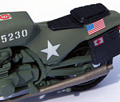 GI Joe Rapid Fire Motorcycle side detail