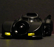 1989 Batmobile with headlights on