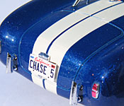 Finish Line Cobra rear license plate