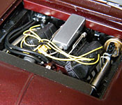 1969 Dodge Charger Daytona engine front view