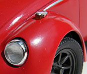 Ninja Cheerleaders Volkswagen Beetle headlight detail