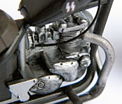 The Walking Dead Triumph Bonneville Chopper engine detail