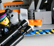 LEGO Super Cycle rear assembly detail