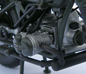 The Great Escape motorcycle engine detail