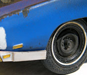 1969 Dodge Charger Daytona left front wheel