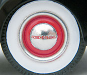 The Silver Spectrum 1940 Ford Deluxe wheel detail