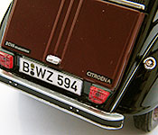 Gotcha! Citroen 2CV rear license plate