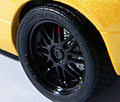 The Night is Still Young Lamborghini wheel detail