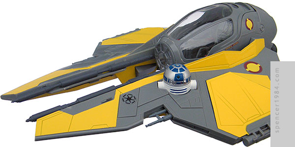 Anakin Skywalker's Eta-2 Light Interceptor (Jedi Starfighter) from the movie Star Wars: Revenge of the Sith