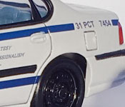 Bourne Ultimatum NYPD Impala rear fender detail