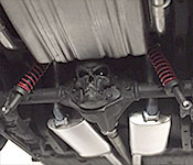 Hell Charger rear suspension detail
