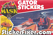 MASK Gator Stickers at StickerFixer.com