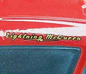 Mattel Lightning McQueen Name Detail