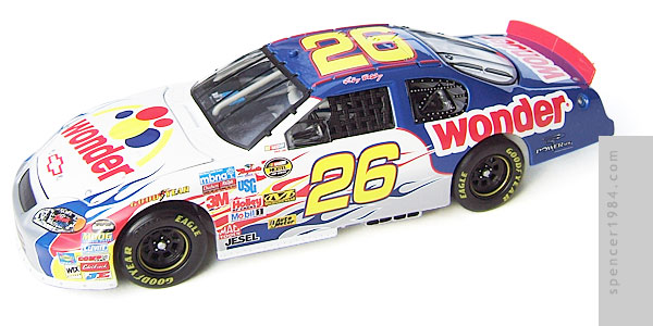 Motorsports Authentics Rick Bobby 26 Wonder Bread Monte Carlo Diecast Review