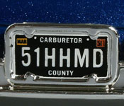 Mattel Doc Hudson license plate detail