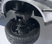 Welly DeLorean Back to the Future 2 Time Machine wheel detail