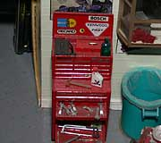 Tool box from Fujimi Garage kit with kit-supplied and scratchbuilt items