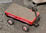 Hot Wheels Radio Flyer modified into a traditional wagon