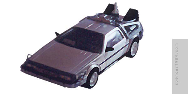 Christorpher Lloyd/Michael J. Fox's DeLorean Time Machine from the movie Back to the Future II