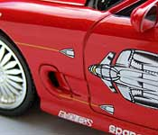 The Fast and the Furious RX7 side detail