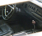 Dirty Mary, Crazy Larry 1969 Dodge Charger dashboard and center console
