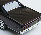 1967 Pontiac GTO rear 3/4 view